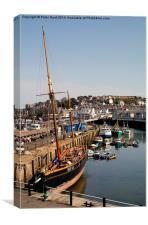 The Inner Harbour Brixham, Canvas Print