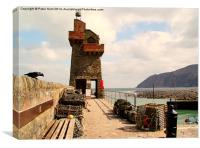 Lynmouth Harbour Wall, Canvas Print