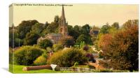 Castle Cary In Rural England, Canvas Print