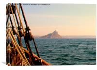 St Michael's Mount From The Irene, Canvas Print