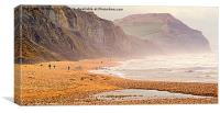 A Windy Day At Charmouth, Canvas Print