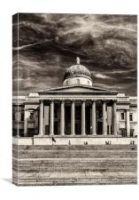 The National Gallery BW, Canvas Print