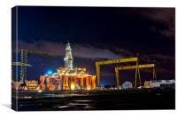 Belfasts Dolphin, Canvas Print