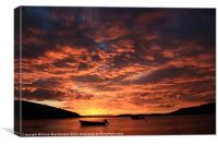Another Lovely Trondra Sunset, Canvas Print