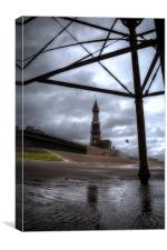 Tower Under The Pier, Canvas Print