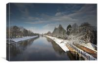 Winter Banks of River Ouse, Canvas Print