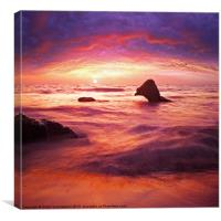 fantasy waterscape, Canvas Print