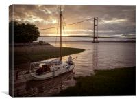 Humber Bridge Sunset, Canvas Print