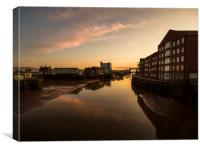 River Hull Sunset , Canvas Print