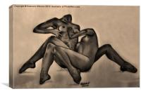 Duet - Signed Drawing, Canvas Print