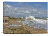 wave watching, Canvas Print