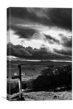 Signpost in the Peak District, Canvas Print