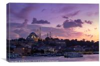 Istanbul Sunset, Canvas Print