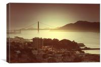 Golden gate bridge, Canvas Print