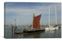 Thames Sailing Barge Alice, Canvas Print