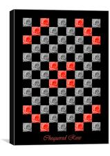Chequered Rose, Canvas Print