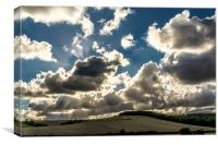 Drama over Bury Hill, Canvas Print
