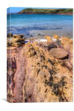 Manorbier Rocks, Canvas Print