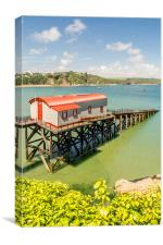 The Old Lifeboat House, Tenby., Canvas Print