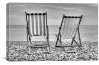Shore Seats, Canvas Print