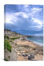 Storm approaching Porthleven, Canvas Print