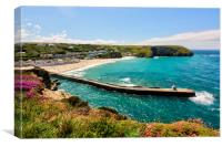Portreath Beach, Cornwall, UK., Canvas Print