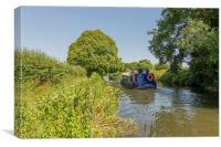 Chichester Canal Cruising, Canvas Print