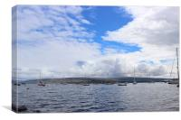 Clouds over Tobermory harbor, Canvas Print