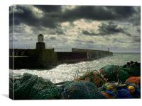 Storm at Pittenweem Harbour, Canvas Print