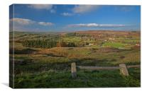 North Yorkshire moors, viewed from Castelton., Canvas Print
