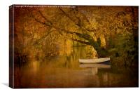 Boat on Quiet River, Canvas Print