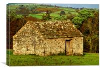 Northumberland Stone Barn, Canvas Print