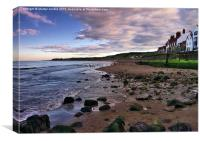 Evening on the beach - Sandsend Yorkshire, Canvas Print