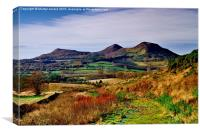 Eildon Hills Melrose Scottish Borders, Canvas Print