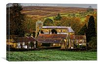 Lastingham Church and Village Yorkshire, Canvas Print