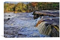 River Swale at Richmond Yorkshire, Canvas Print