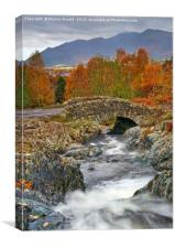 Ashness Bridge near Derwentwater, Lake District, Canvas Print