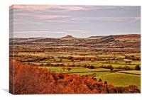 Roseberry Topping and Yorkshire Landscape, Canvas Print