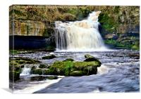West Burton Waterfall After the Rain, Canvas Print