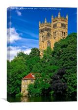 Durham Cathedral and Old Fulling Mill, Canvas Print