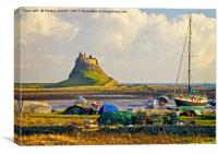 Holy Island and Lindisfarne Castle, Canvas Print