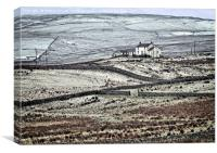 Teesdale in Winter, Canvas Print