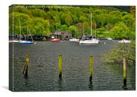 Boats on Lake WIndermere, Canvas Print
