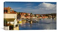 Evening at Whitby Harbour, Canvas Print
