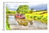 Leeds and Liverpool Canal at Skipton , Canvas Print