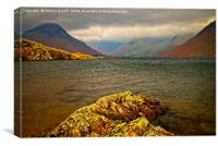 Wast Water looking towards Great Gable, Canvas Print