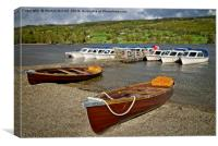 Boats on Coniston Water, Canvas Print