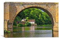 RIver Wear and Boathouse in Durham City, Canvas Print