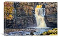 High Force Waterfall in Teesdale , Canvas Print