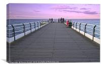 Evening Fishing at Saltburn, Canvas Print